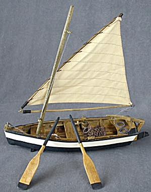 Wooden Sailboat Decoration