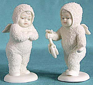 Retired Dept 56 Snowbabies: I Found Your Mittens