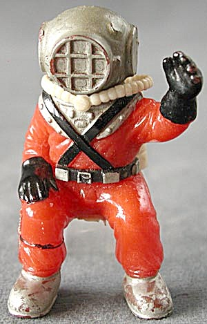 Vintage Deep Sea Diver Bubbler Aquarium Decoration