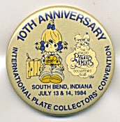 Precious Moments 10th Plate Collectors Convention Pin