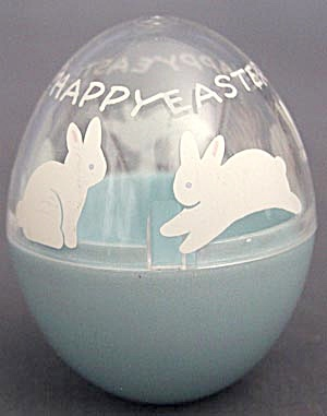 Vintage Hallmark Bunny Egg Candy Container