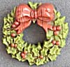 Hallmark Christmas Wreath Pin