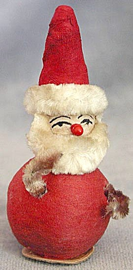 Vintage Small Spun Cotton Santa