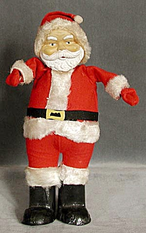Vintage Santa With Big Black Feet
