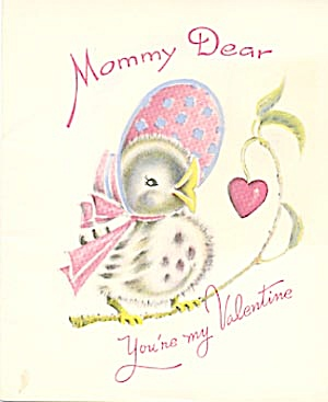 Vintage Valentine Cards: Robin, Bear And Baby