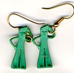 Vintage Gumby Earrings