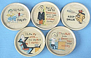 Vintage Wooden Comic Coasters