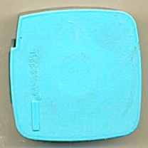 Tupperware Blue Plastic Label Dispenser With Label Roll