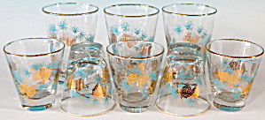 Vintage Pinecone Glasses Set Of 8
