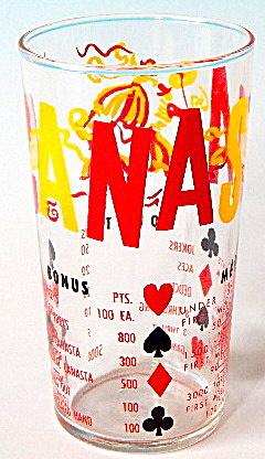 Vintage Canasta Drinking Glass