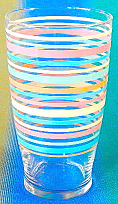 Vintage Large Striped Glass