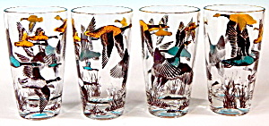 Vintage Geese Drinking Glasses Set Of 4