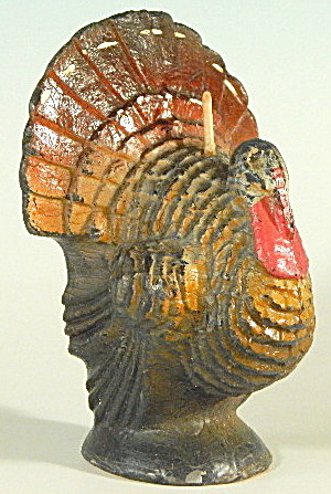 Vintage Thanksgiving Gurley Turkey Candle