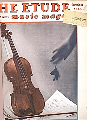 Vintage The Etude Music Magazine March & Oct, 1948