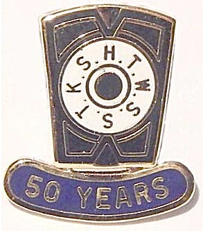 Vintage Masonic H.t.w.s.s.t.k.s Lapel Pin 50 Years