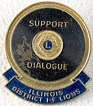 Vintage Illinois I-f Lions International Pin