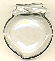 Clear Glass Apple Coasters Set Of 6