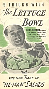 Leo Carrillo 9 Tricks With The Lettuce Bowl