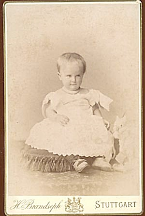 Vintage Photograph Of Serious Baby