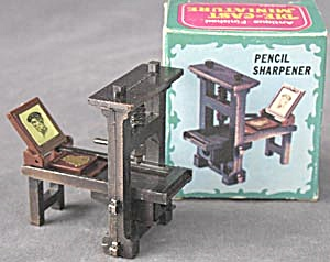 Metal Printing Press Pencil Sharpener