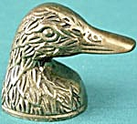 Vintage Brass Duck Pencil Sharpener