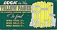Yellow Pages Ink Blotter