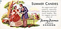 Fanny Farmer Summer Candies Blotter