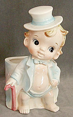 Vintage Baby New Year Planter