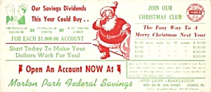 Santa Christmas Club Federal Savings