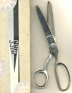 "Wiss Chrome Plated 8"" Pinking Shears"
