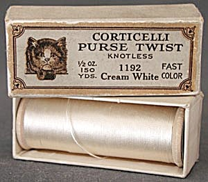 Vintage Corticelli Purse Twist Thread In Original Box