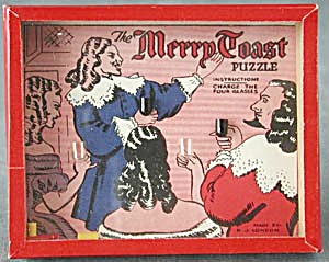 Vintage Merry Toast Dexterity Game Puzzle