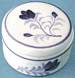 Vintage Tiny China Round Box