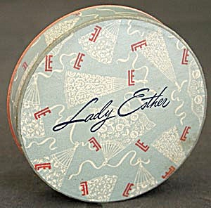 Vintage Lady Ester Powder Box