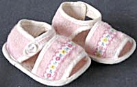 Vintage Pink Cloth Baby Shoes
