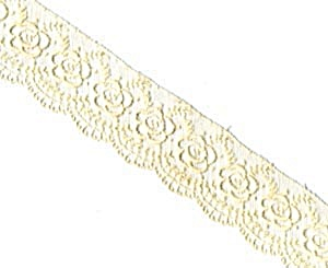 Vintage Scalloped Rose Net Trim