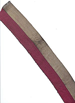 Vintage Burgundy Ribbon With Wide Metallic Edge