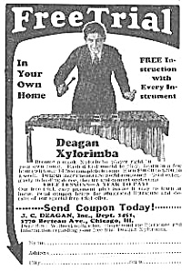 1927 Deagan Xylorimba Music Room Ad