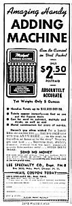 1945 Hand Adding Machine - Calculator Magazine Ad