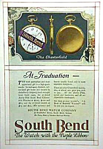 Rare 1918 Color Southbend Pocket Watch Ad