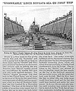 1927 Malolo Ocean Liner Mag Article