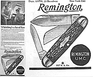 1927 Remington Pocket Knife Ad