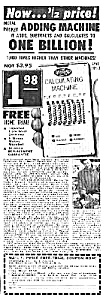 1958 Adding Machine - Calculator Mag. Ad
