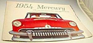 1954 Mercury Dealer Sales Brochure Foldout Poster