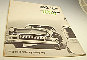 1954 Mercury Sales Quick Facts Brochure-original