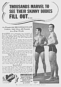 1939 Don't Be Skinny Magic Muscle Cure Ad