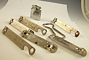 Lot Of 6 Advertising Metal Bottle Openers Beer+