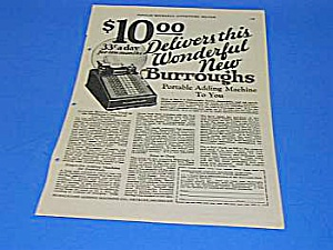1926 Burroughs Adding Machine Ad