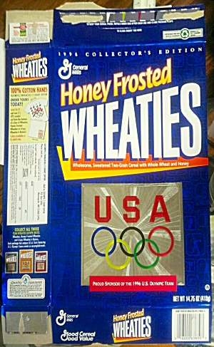 Wheaties Cereal Box 1996 Usa Olympics 14.75 Oz