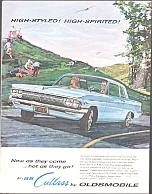 1962 Oldsmobile F-85 Cutlass Original Magazine Ad